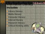 information literacy includes