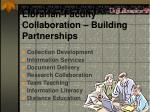 librarian faculty collaboration building partnerships