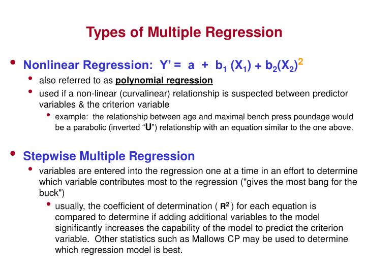 Types of Multiple Regression