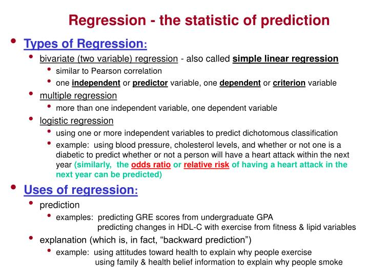 Regression - the statistic of prediction