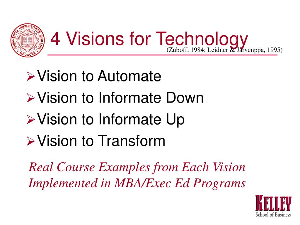 4 Visions for Technology