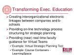 transforming exec education