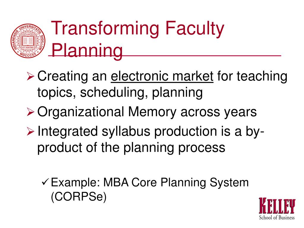 Transforming Faculty Planning