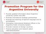 promotion program for the argentine university7