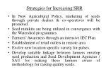 strategies for increasing srr