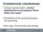 commercial conclusions