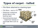 types of carpet tufted