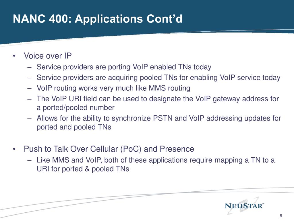 NANC 400: Applications Cont'd
