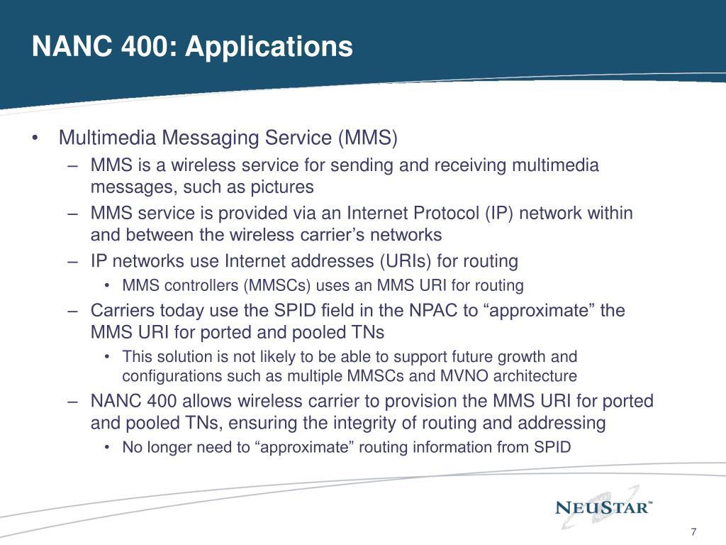 NANC 400: Applications