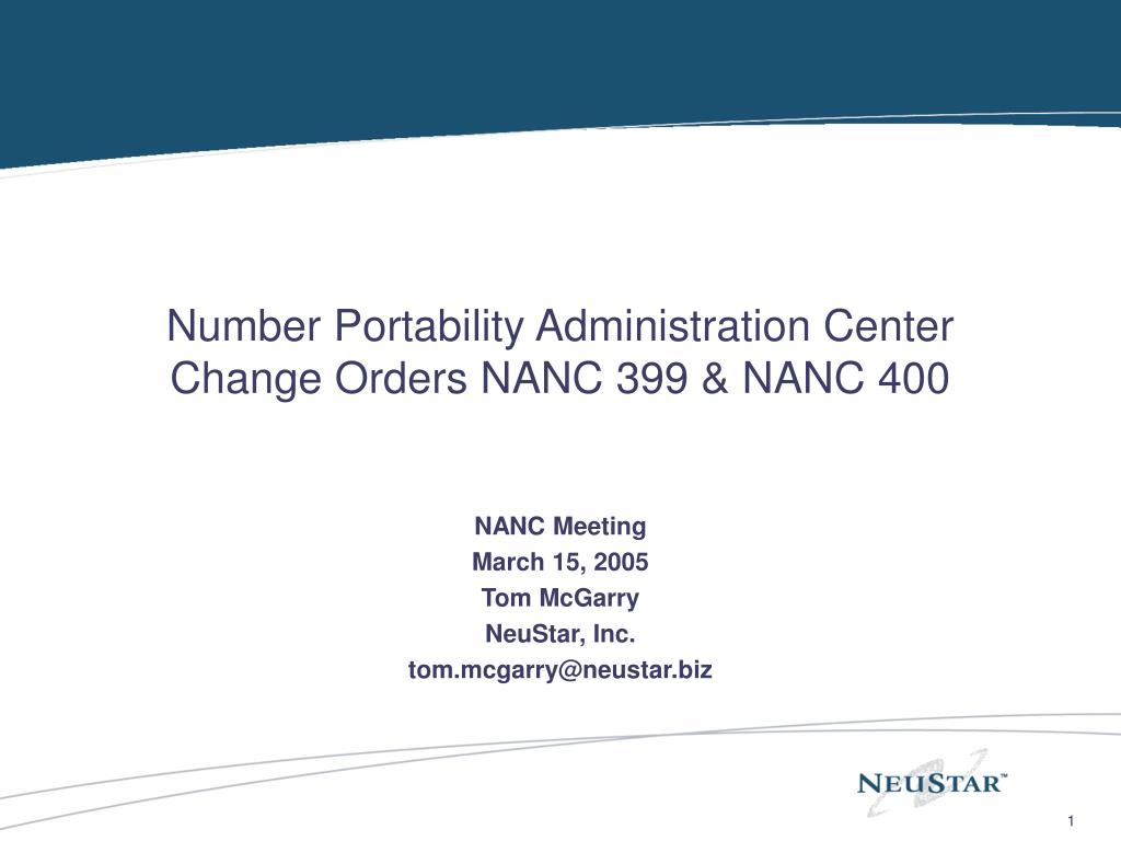 Number Portability Administration Center
