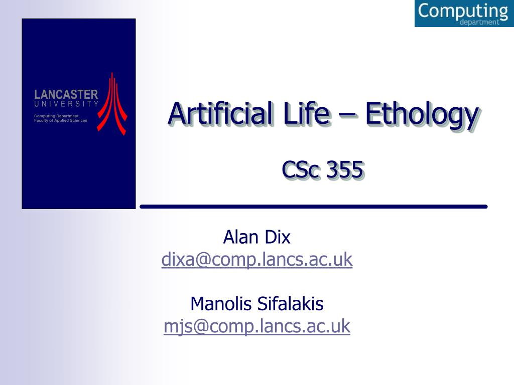 artificial life ethology l.