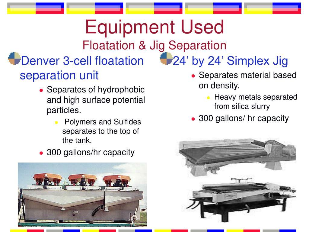 Denver 3-cell floatation separation unit