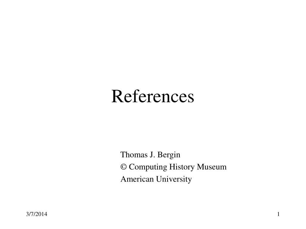 references l.