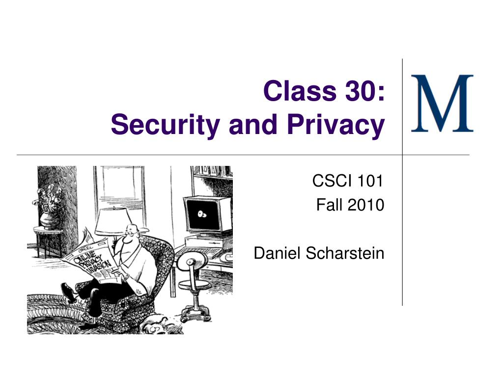 class 30 security and privacy l.