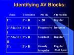 identifying av blocks