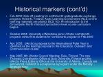 historical markers cont d