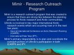 mimir research outreach program