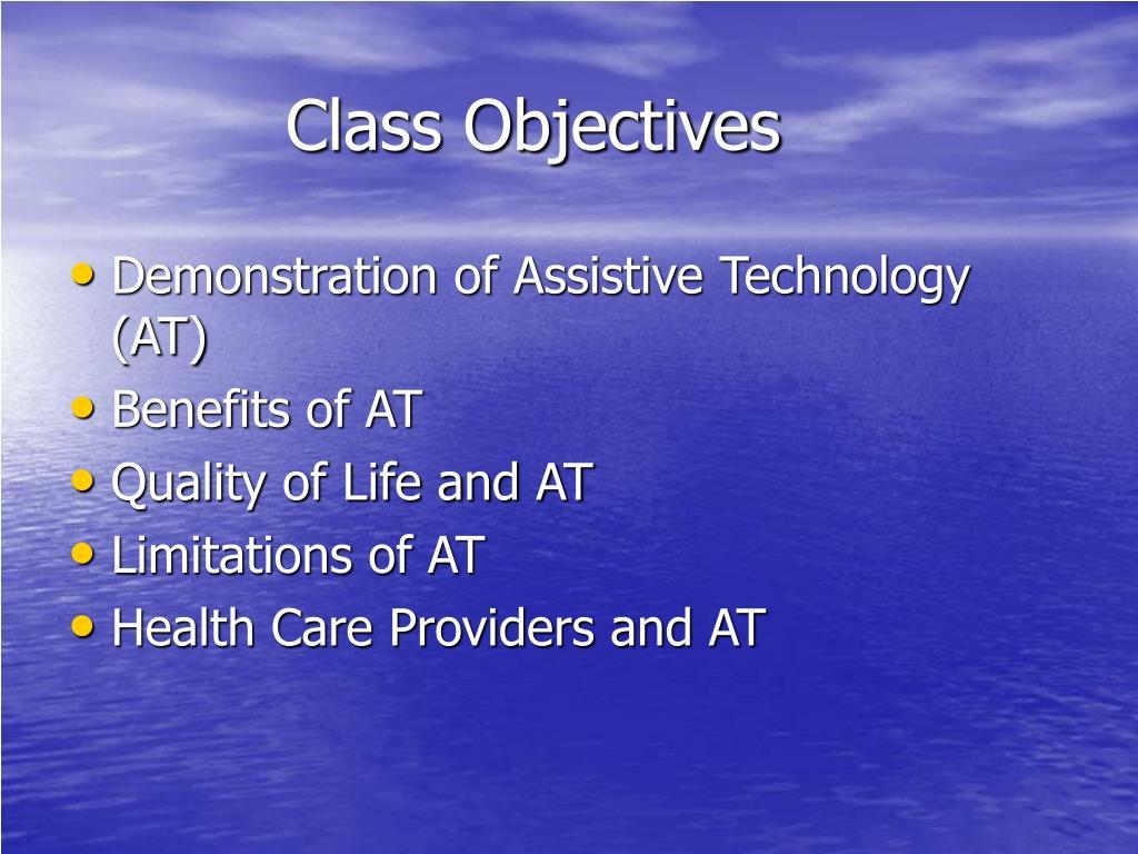 class objectives l.