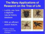 the many applications of research on the tree of life47