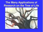 the many applications of research on the tree of life48