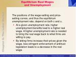 equilibrium real wages and unemployment29