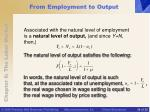 from employment to output