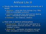 artificial life iii