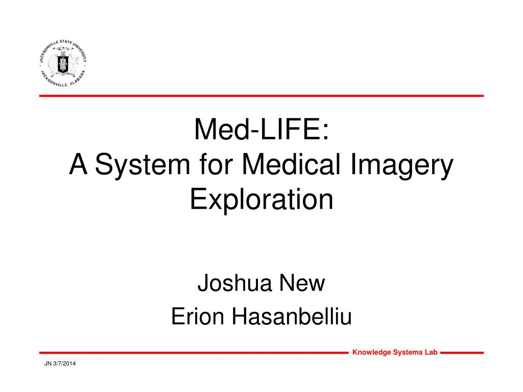 med life a system for medical imagery exploration l.