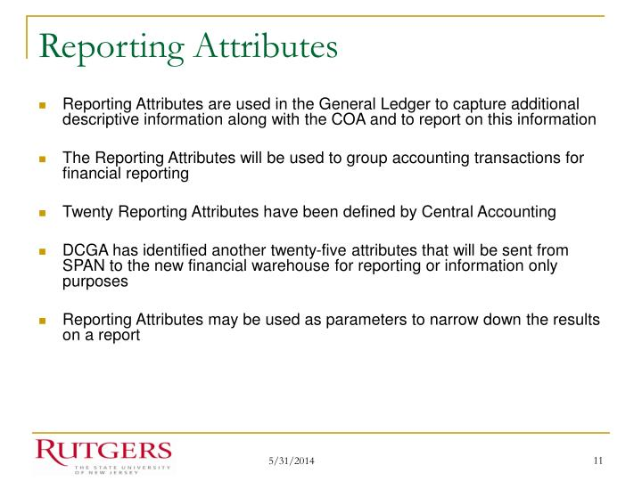 Reporting Attributes