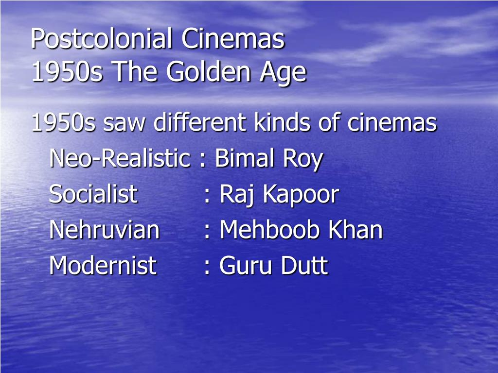 Postcolonial Cinemas