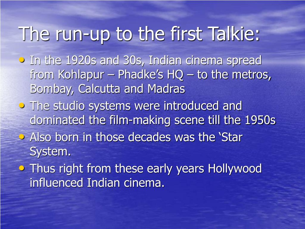 The run-up to the first Talkie:
