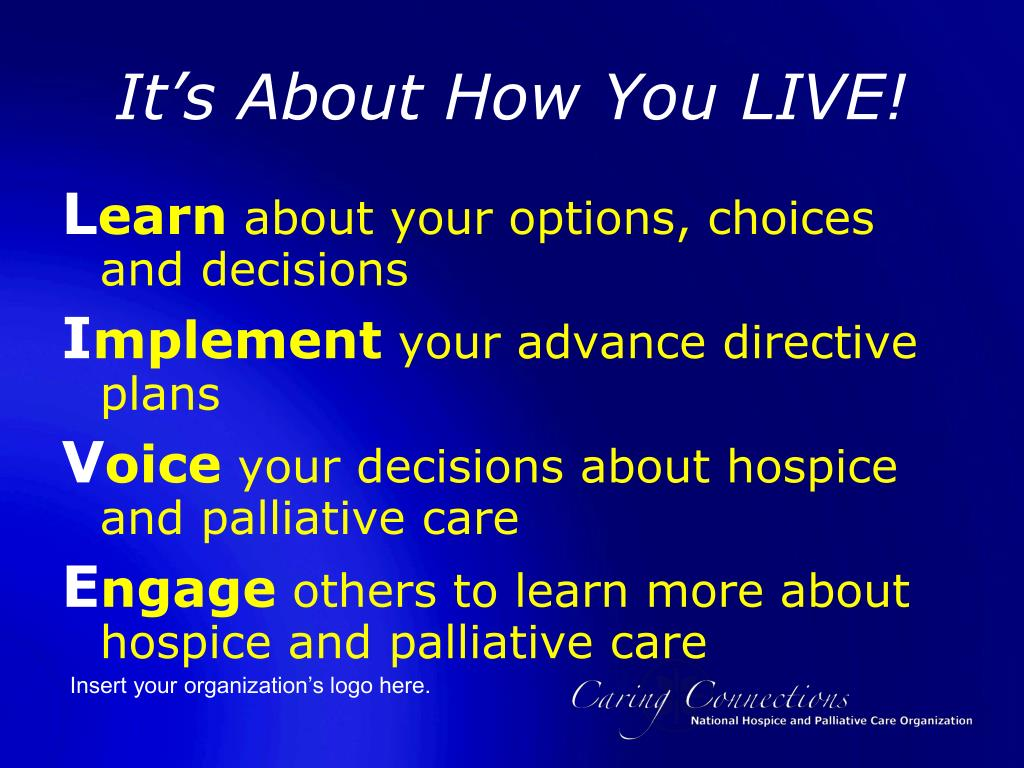 It's About How You LIVE!