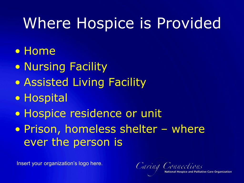 Where Hospice is Provided