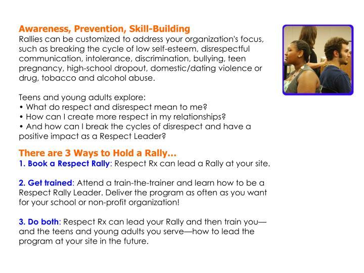 Awareness, Prevention, Skill-Building