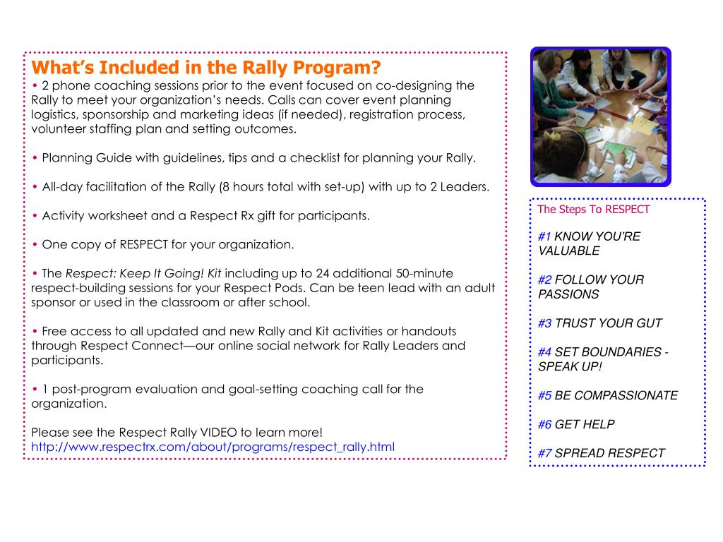 What's Included in the Rally Program?