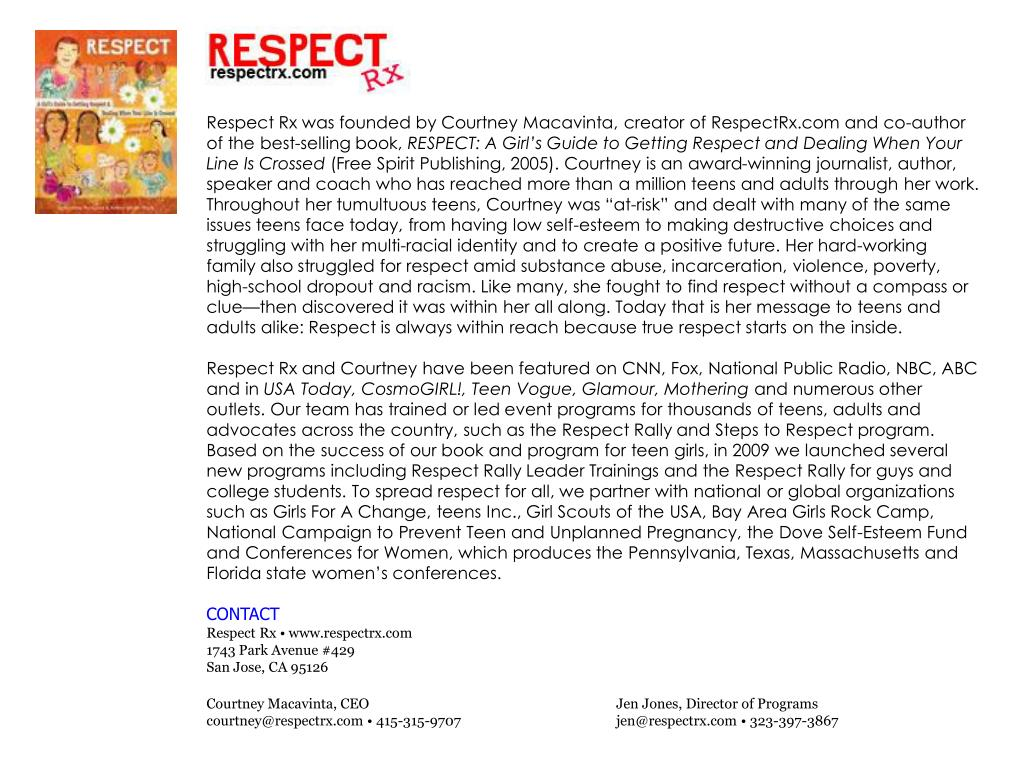 Respect Rx was founded by Courtney Macavinta,