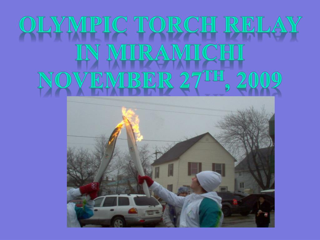 Olympic torch relay in