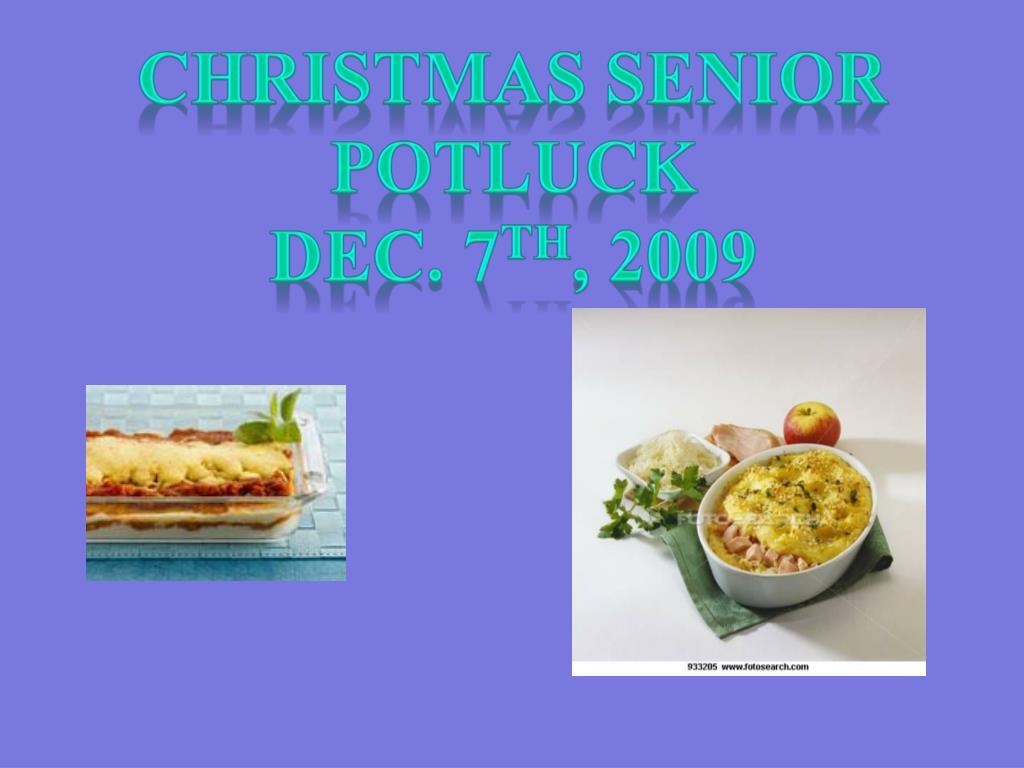 Christmas Senior Potluck