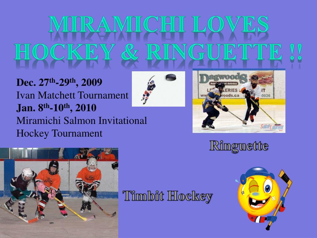 Miramichi loves hockey &