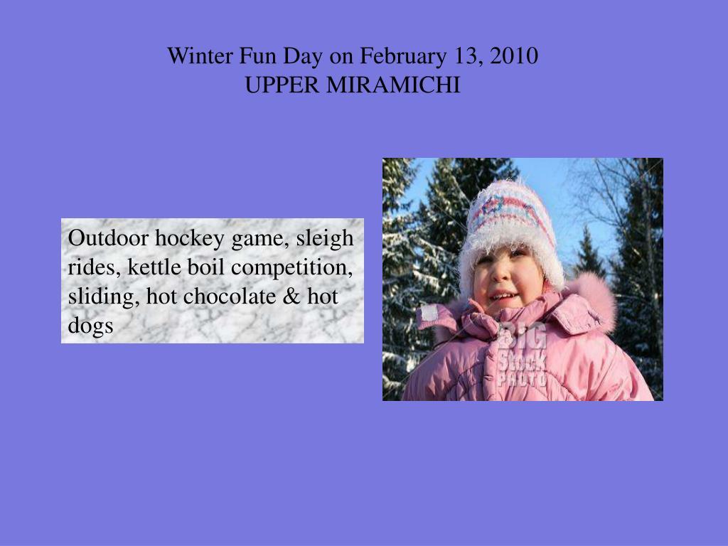 Winter Fun Day on February 13, 2010