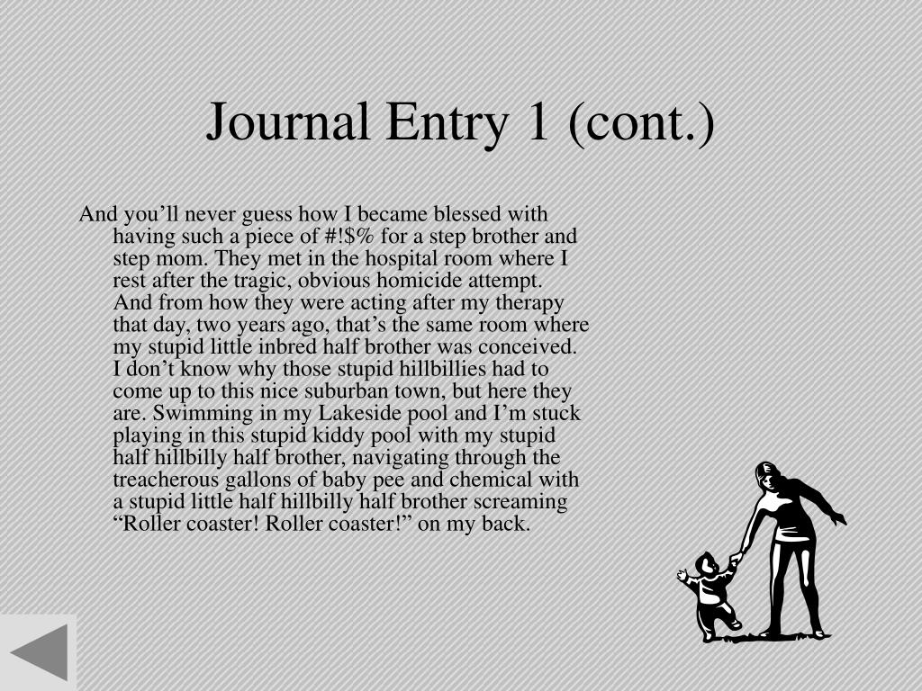 Journal Entry 1 (cont.)