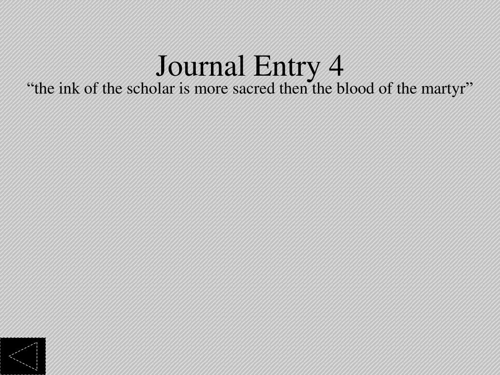 Journal Entry 4