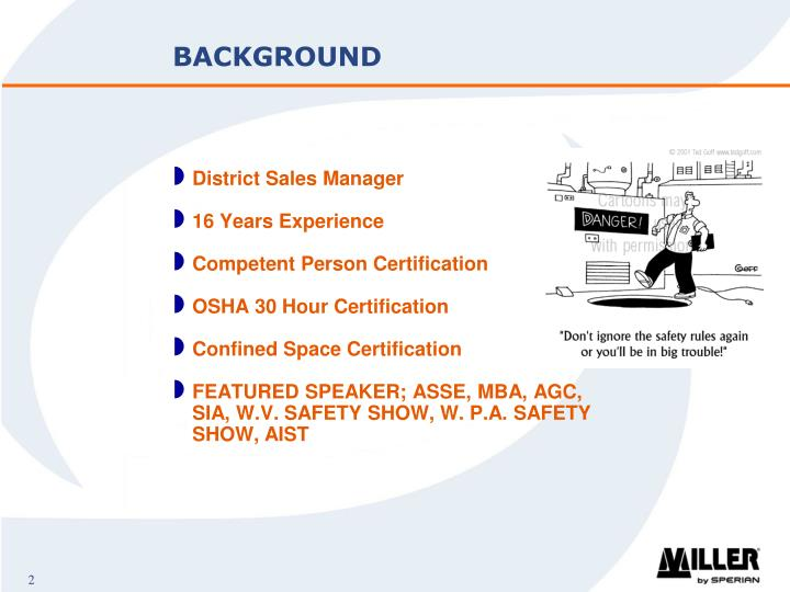 Ppt Miller Fall Protection Confined Space Presentation Powerpoint