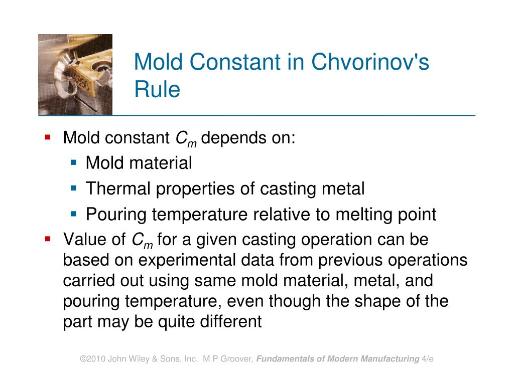 Mold Constant in Chvorinov's Rule