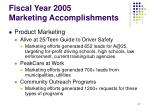 fiscal year 2005 marketing accomplishments47