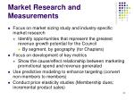 market research and measurements