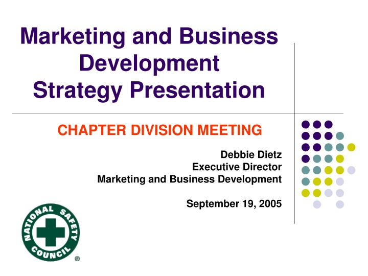 marketing and business development strategy presentation n.