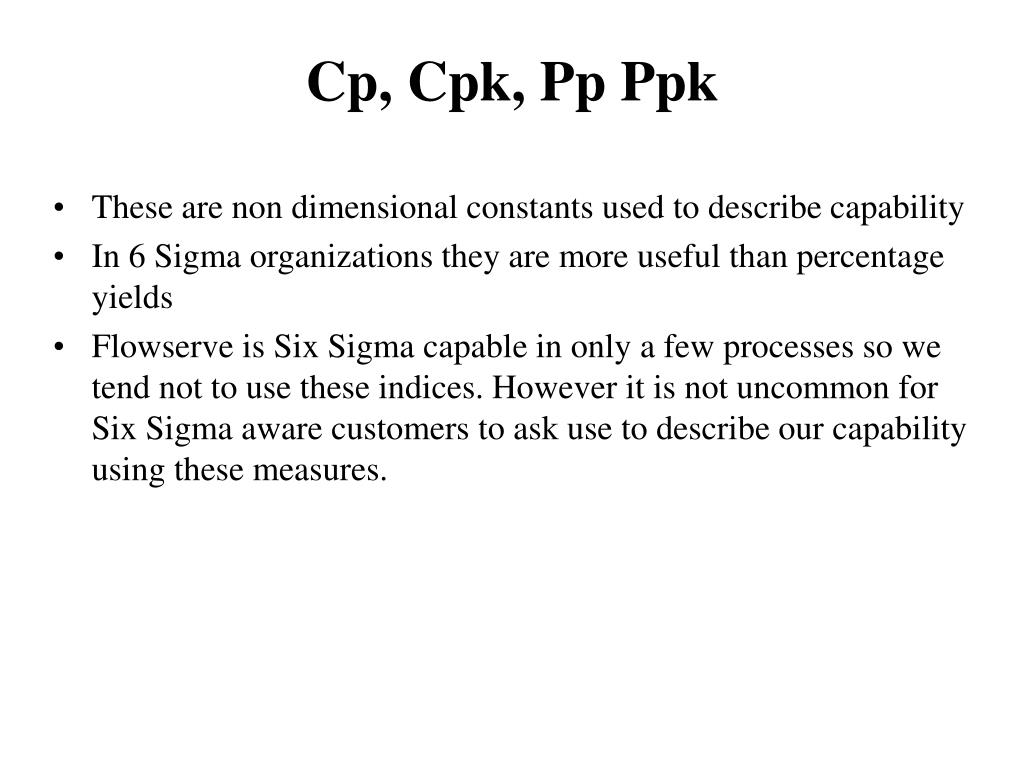 Process capability ppk vs cpk