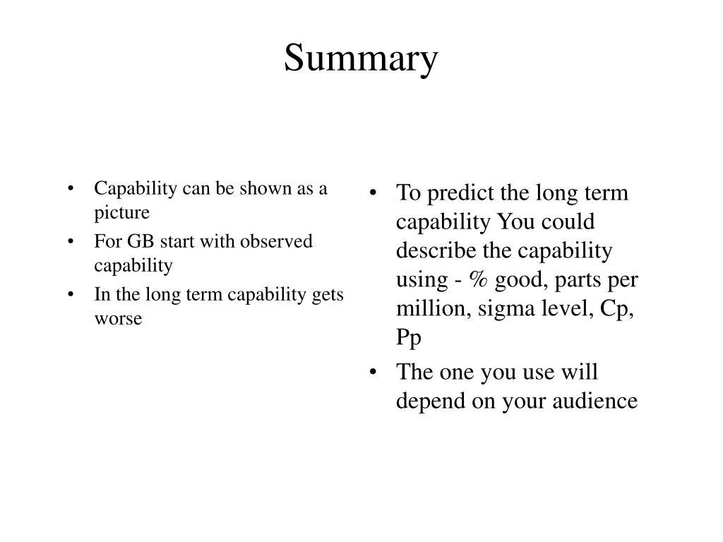 PPT - Quantitative Capability Assessment PowerPoint