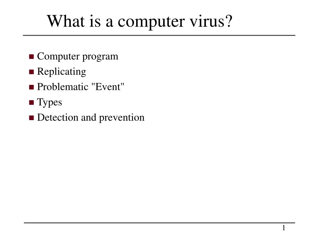 what is a computer virus l.